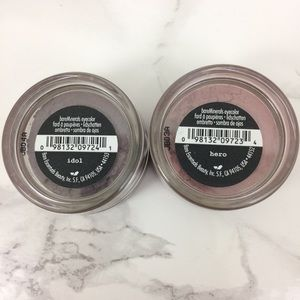 LOT 2 BareMinerals eyeshadows in Hero & Idol, new